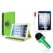 Insten 360 Degree Rotating PU Folio Leather Case Cover w Swivel Stand For iPad Mini 1/2/3 - Green