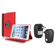 Insten Red PU Leather Case Smart Cover Stand+TC For Apple iPad Mini 3rd 3 2nd 1 1st Gen