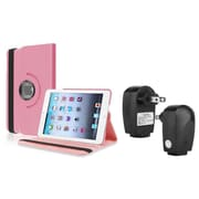 Insten Light Pink Leather Case Smart Cover Stand+TC For Apple iPad Mini 3rd 3 2nd 1 1st Gen
