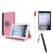 Insten Rotating Leather Case Cover Swivel Stand For iPad Mini 1 2 3 +Protector+Stylus