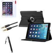 Insten 360 Black Rotating Leather Case Cover+LCD+Pen+Cable For Apple iPad Air 5 5th Gen