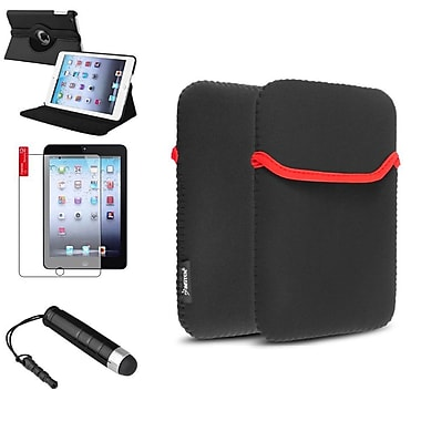 Insten® 360 Black Rotate Leather Case Cover, Sleeve Pouch, Screen Protector and Mini Stylus for iPad Mini 3 2 1