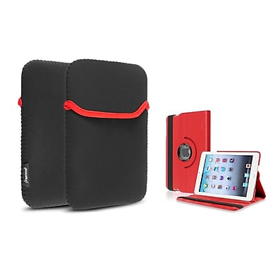Insten® 360 PU Leather Case Cover and Sleeve Pouch for iPad Mini 3 2 1, Red(1535426)