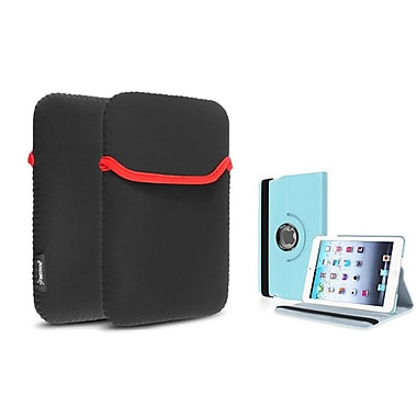 Insten® 360 PU Leather Case Cover and Sleeve Pouch for iPad Mini 3 2 1, Light Blue(1535641)