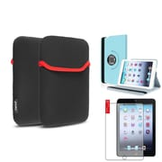 Insten Light Blue 360 Leather Case Cover+Matte Protector for iPad Mini 3 2 1