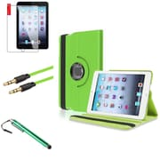 Insten Green 360 Leather Case Cover+LCD+Stylus+Cable for iPad Mini 3 2 1