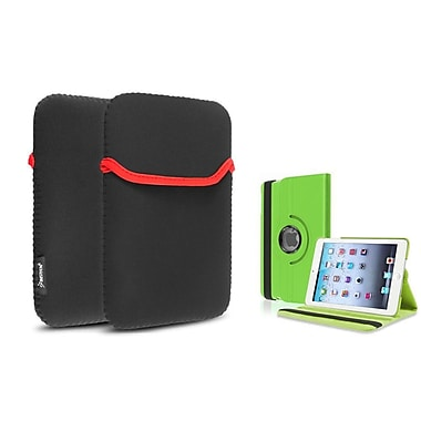 Insten® 360 PU Leather Case Cover and Sleeve Pouch for iPad Mini 3 2 1, Green(1535857)