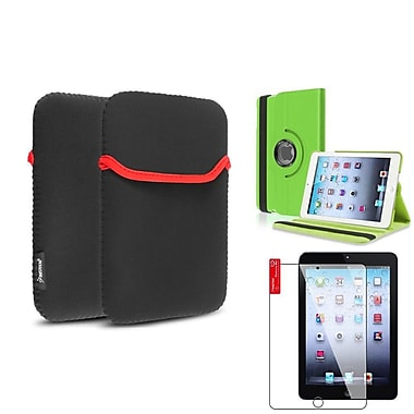 Insten® 360 PU Leather Case Cover, Tablet Sleeve Pouch and Clear Screen Protector for iPad Mini 3 2 1, Green(1535858)