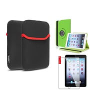Insten Green 360 Leather Case Cover+LCD Protector+Pouch for iPad Mini 3 2 1