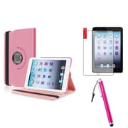 Insten Light Pink 360 Leather Case Cover+Matte SP for iPad Mini 3 2 1