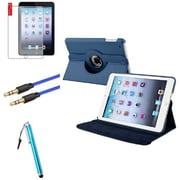 Insten Navy Blue Leather Case Cover Pouch+Matte Guard for iPad Mini 3 2 1 (Auto Sleep/Wake) (1536030)