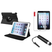 Insten Black Rotating Leather Case Stand+Protector/Pen for Apple iPad Mini 3rd 3 2nd 1 1st Gen by