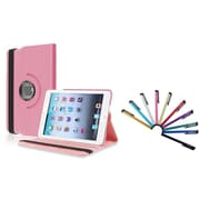 Insten Light Pink Leather Case w/ Sleep Mode + 10 Packs Colorful Stylus For iPad Mini 3 2 1