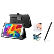 Insten Black Leather Stand Case Cover with Ballpoint Pen Stylus For Samsung Galaxy Tab 4 7.0 SM-T230 Tab4 7-Inch 7""