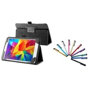 Insten Black Leather Stand Tablet Case For Samsung Galaxy Tab 4 7.0 7 inch T230 SM-T230 (with 10-Piece Stylus)