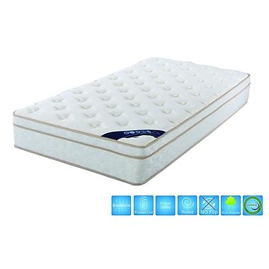Brassex – Matelas grande taille 6104 à surface euro avec ressorts ensachés, 11 x 80 x 60, blanc