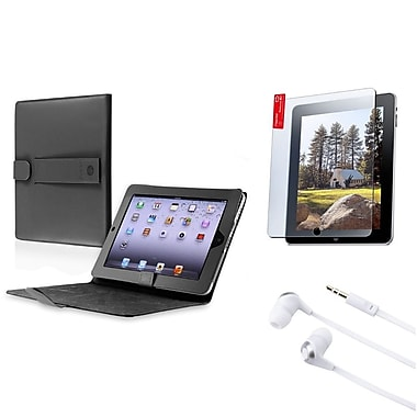 Insten® 3in1 Accessory Bundle Pack Black Case Set For iPad 1 (312630)