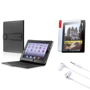 Insten 3in1 Accessory Bundle Pack Black Case Set For iPad 1