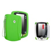 Insten Green Skin Gel Rubber Shell Case+Clear Protector For LeapFrog LeapPad 2