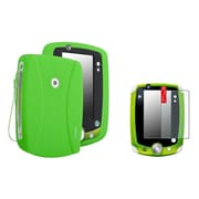 Insten Green Rubber Skin Case+2 Packs Anti-Glare Screen Protector For LPF LeapPad 1 2 3 Explorer