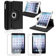 Insten Black Leather Multi View Stand Case + Anti-Glare Film For Apple iPad Mini 3rd 2nd Gen