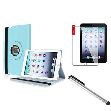 Insten® PU Leather Case Cover with Clear Screen Protector and Silver Stylus For iPad Mini 1 / 2 / 3