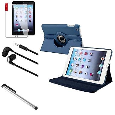 Insten 4 Bundle Navy Blue Leather Case Guard Stylus For iPad Mini 3rd 2nd 1st (Auto Sleep/Wake)