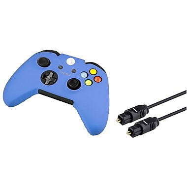 Insten 3 ft Toslink Digital Audio Cable Optical Cord Blue Skin Case For Sony Xbox One (1588587)