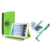 Insten Green Swivel Leather Case+Stylus For Apple iPad Mini 3/2/1 (Supports Auto Sleep/Wake)