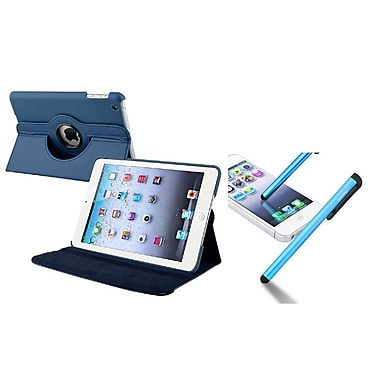 Insten® Leather Case with Universal Stylus For Apple iPad Mini 3/2/1, Navy Blue (948129)
