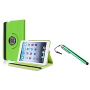 Insten Green Swivel Leather Case+Stylus Pen For Apple iPad Mini 3/2/1 (Support Auto Sleep/Wake)