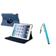 Insten Navy Blue Leather Case+Stylus Pen For Apple iPad Mini 3 2 1 (Supports Auto Sleep/Wake)