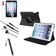 Insten 4in1 Black Leather Case Clip 3.5mm Stylus Headset For iPad Mini 2 3 (Auto Sleep/Wake)