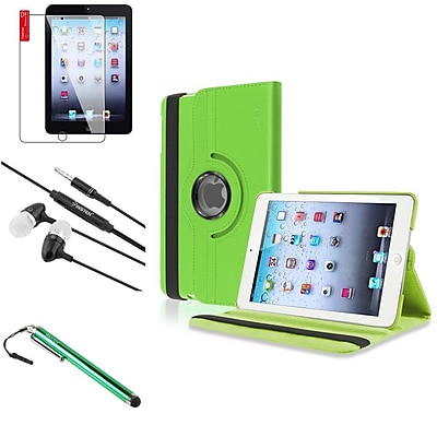 Insten 4 in 1 Green Leather Case Stylus Protector For iPad Mini 1st 2nd 3rd (Auto Sleep/Wake)