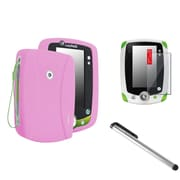 Insten Skin Cover Case And Clear Protector And Silver Stylus For LPF Leappad 2 Explorer, Pink (975160)
