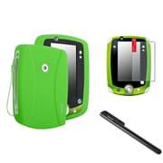 Insten Green Rubber Skin Cover Case+Black Pen+Anti-Glare SPT For LPF LeapPad 1 2 3 Explorer