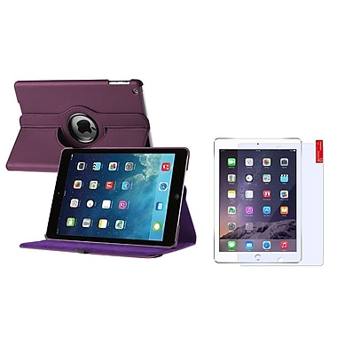 Insten Purple 360 Rotating Leather Case Cover+Screen Guard For Apple iPad Air 5 5th Gen