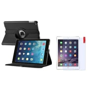 Insten 360 Black Rotating Leather Case Cover+LCD Protector For Apple iPad Air 5 5th Gen