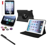 Insten 360 Degree Black Rotating Leather Case Cover Stand for Apple iPad Mini 3 2 1+Sticker
