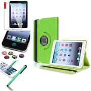 Insten Green 360 Degree Rotating Leather Case Cover Stand for Apple iPad Mini 3 2 1+Sticker