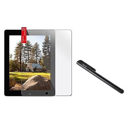 Insten LCD Screen Protector+Black Stylus for iPad 4 with Retina Display / 3rd / 2nd