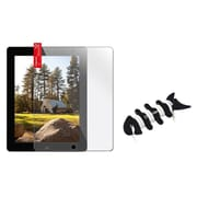 Insten 3 Packs Clear LCD Screen Protector for iPad 4 4th/3/2 Retina Display+Fishbone Wrap