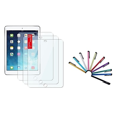 Insten® 3-Piece Clear Screen Protector Film with 10-Piece Stylus For Apple iPad Air 1/2(2048353)