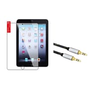 Insten LCD Screen Protector For iPad Mini 1 2 3 (+3.5mm Aux Auxiliary Audio Stereo Extension M/M Cord)