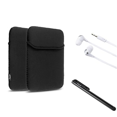 Insten 3 Items Accessory Bundle Combo For Apple iPad 2 3 4 Soft Sleeve Pouch Case Stylus (348786)