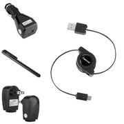 Insten 3in1 USB Car Charger for Samsung Galaxy Note 4 S3 i9300 S4 i9500 i8190 S2 S5+Stylus