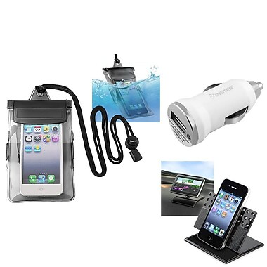 Insten® Black Waterproof Bag Case with Charger and Car Holder For iPod Touch 1 2 3 5(576512)