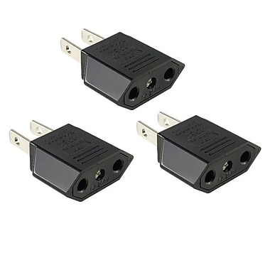 Insten Euro EU to US USA Travel Power Adapter Converter Wall Plug, 3/Pack (1291641)