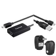 Insten Micro USB to HDMI MHL Adapter + AC Charger + 0.6FT Cable For Samsung Galaxy S III / S IV / SV S5 / Note III N9000