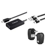 Insten Micro USB to HDMI MHL Adapter + AC Charger + 3FT Cable For Samsung Galaxy S III / S IV i9500 / SV S5 / Note III